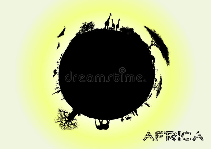 Africa earth. The silhouette of Africa Earth in the vectors