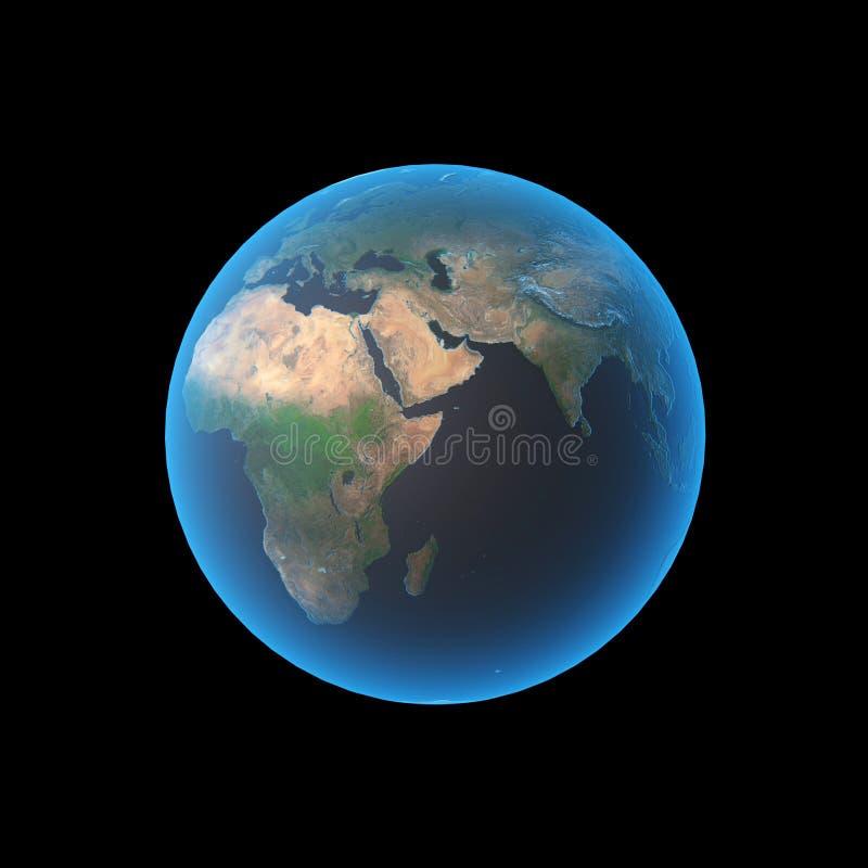 africa earth διανυσματική απεικόνιση