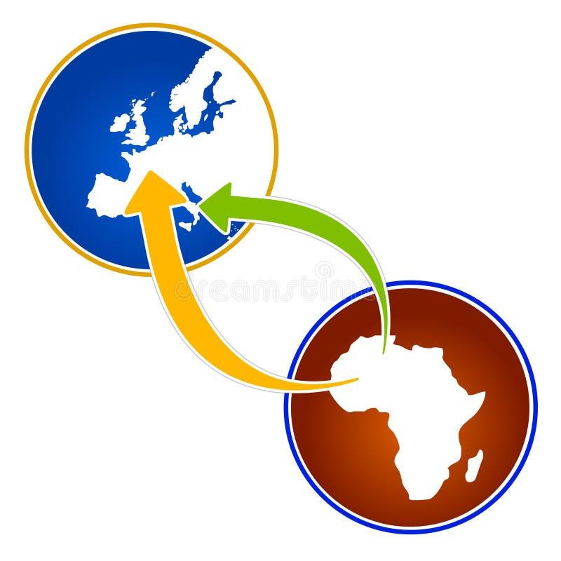 africa emigrationillustration stock illustrationer