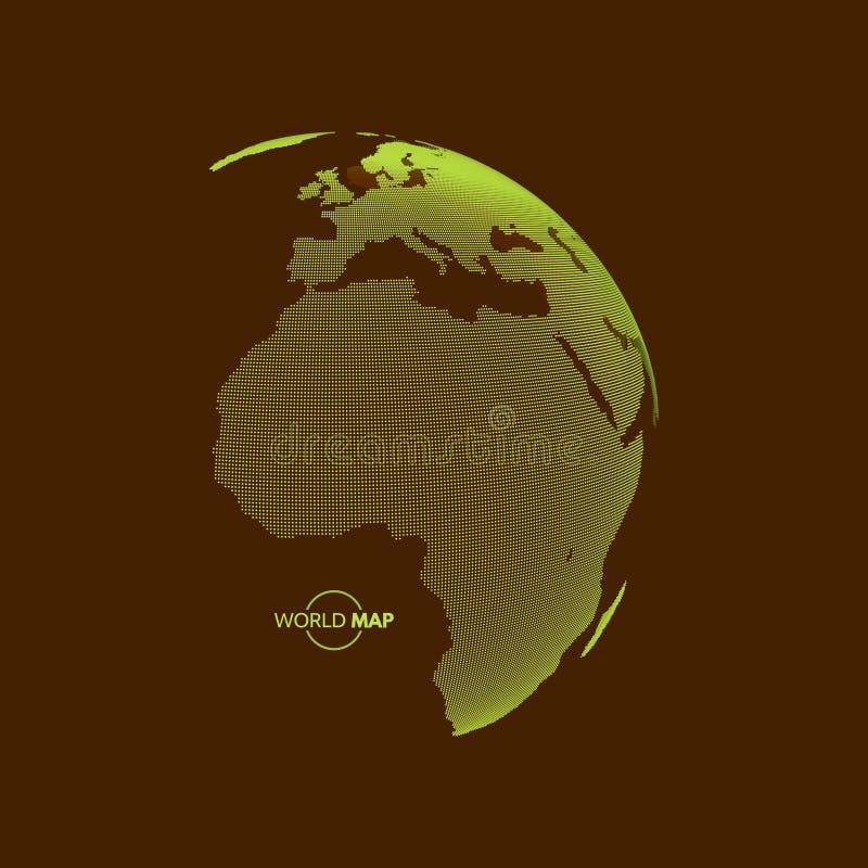 africa Europe - globus ziemi Globalnego biznesu marketingowy pojęcie Kropkowany styl ilustracja wektor