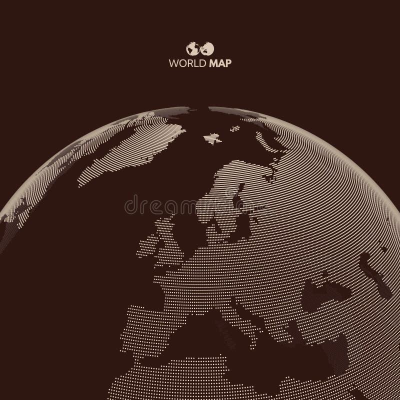 africa Europe - globus ziemi Globalnego biznesu marketingowy pojęcie Kropkowany styl royalty ilustracja
