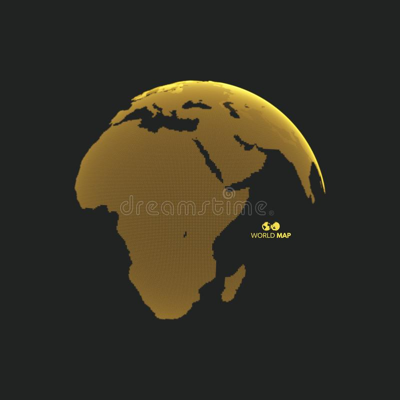 africa Europe - globus ziemi Globalnego biznesu marketingowy poj?cie Kropkowany styl Projekt dla edukaci, nauka, sieci prezentacj ilustracja wektor