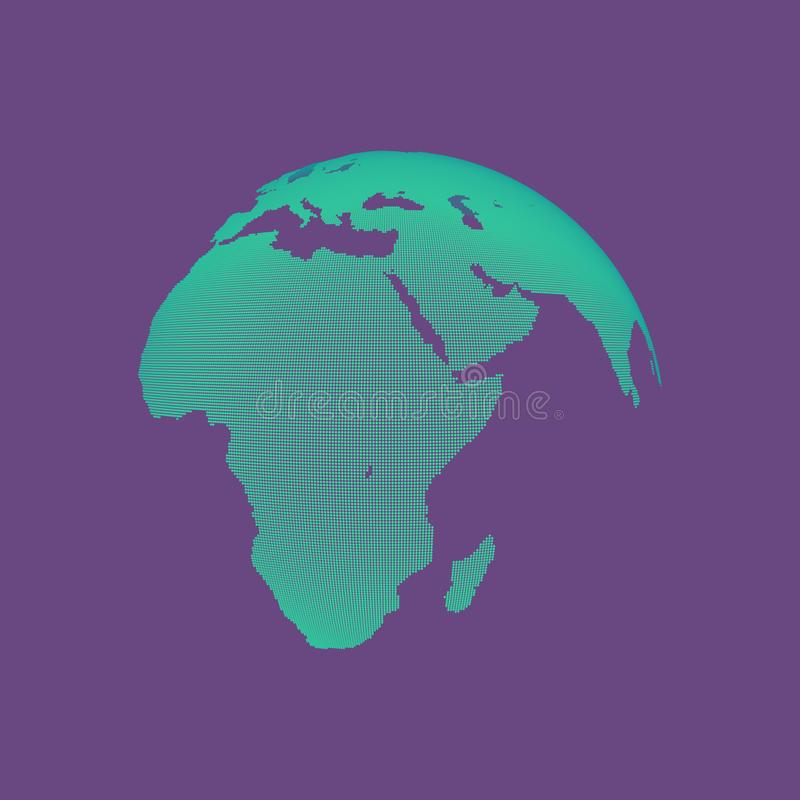 africa Europe - globus ziemi Globalnego biznesu marketingowy poj?cie Kropkowany styl Projekt dla edukaci, nauka, sieci prezentacj ilustracji