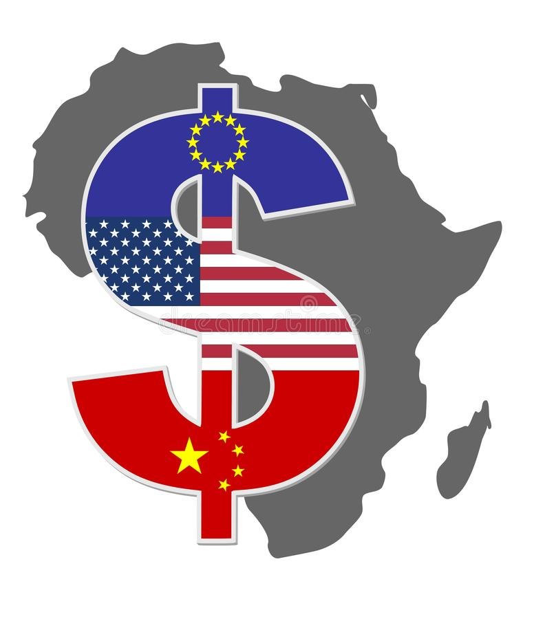 africa exploatering vektor illustrationer