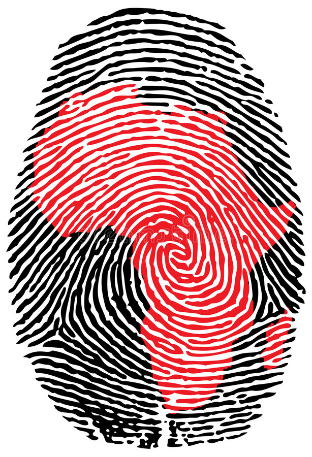 Free Africa-fingerprint Stock Photography - 4308302