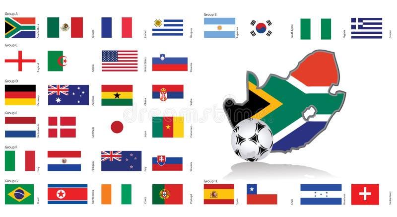 africa flags den södra vektorn för översikten