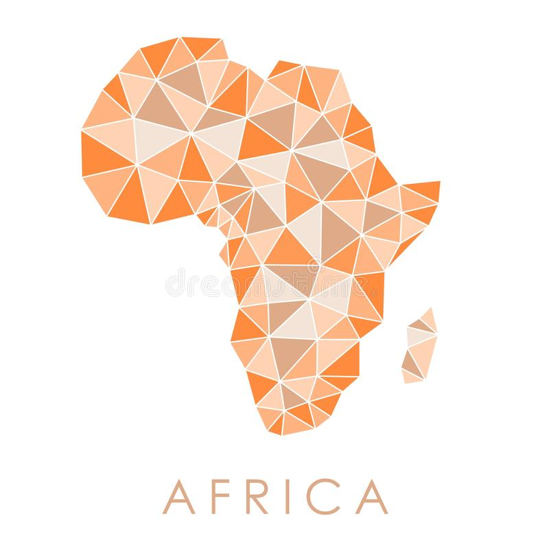 Low-Poly Africa map stock vector. Illustration of shape ... on map design free, map templates free, map icons free, map drawings free, map logos free, map fonts free, map clip art, map chart free, building clip art free, map software free,