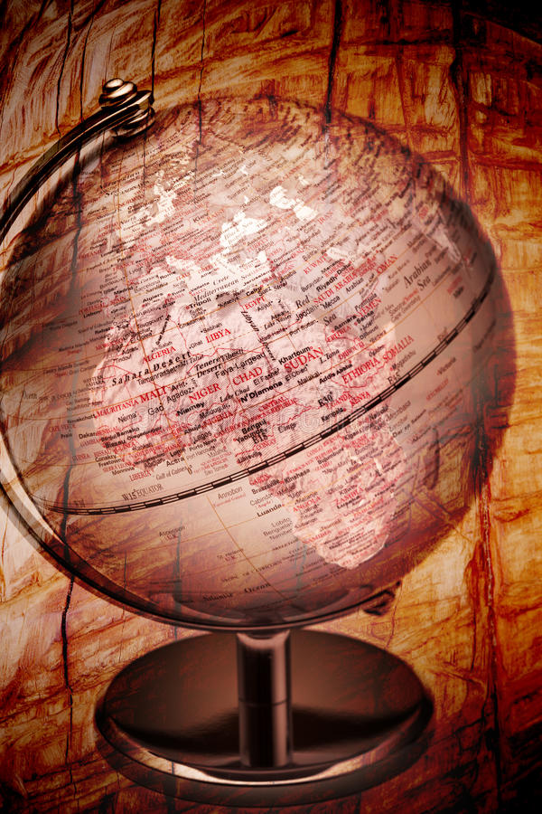 Download Africa Globe stock photo. Image of travel, texture, continent - 18484220