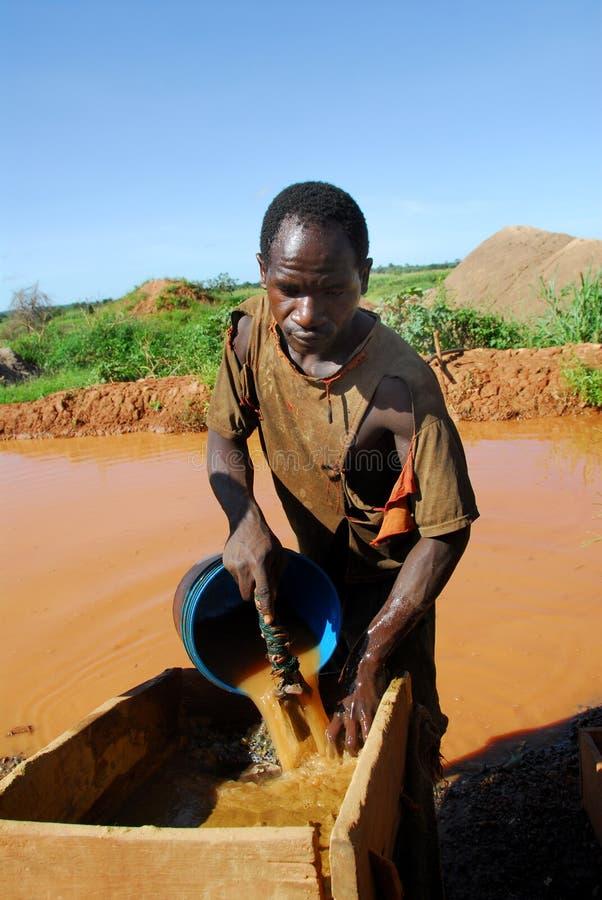 africa gruvarbetare royaltyfri fotografi