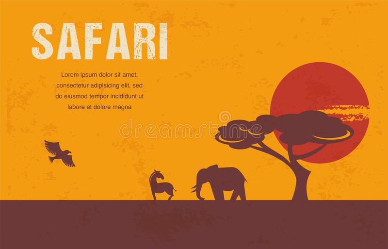 Africa - infographics and background stock illustration