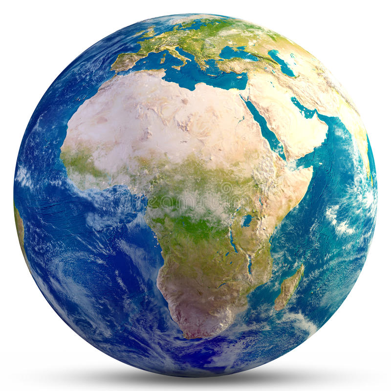 africa jordplanet royaltyfri foto