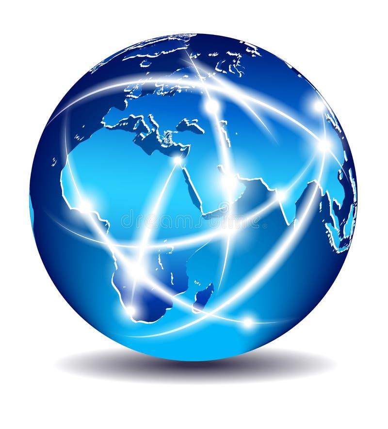 africa komunikacj wschodniego Europe środek ilustracji