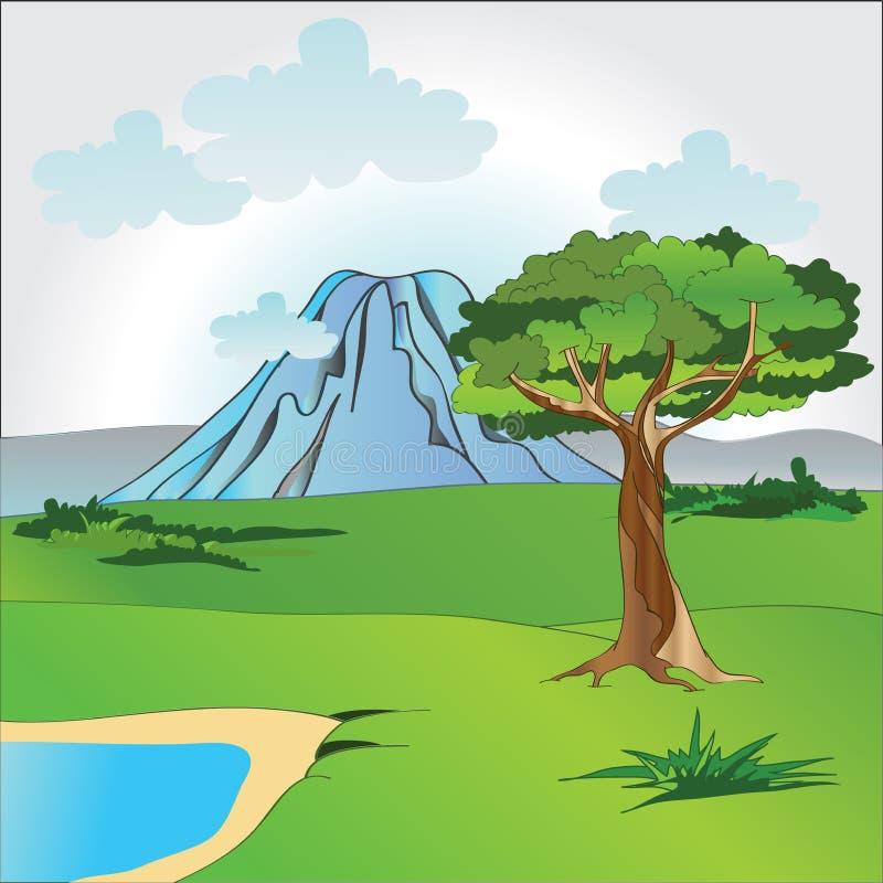 Download Africa landscape stock vector. Illustration of river - 25121986