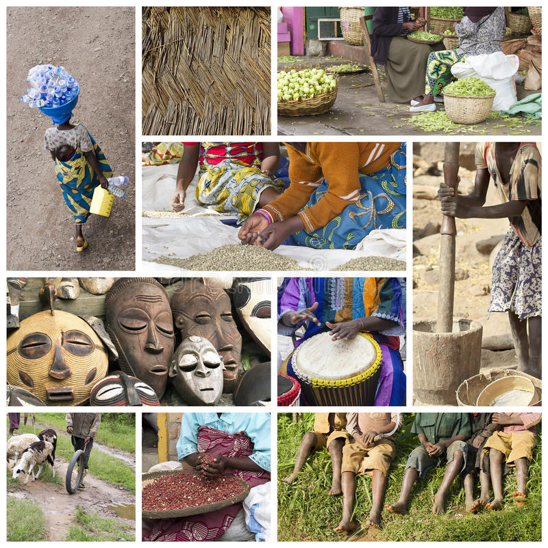 Africa life collage royalty free stock photo