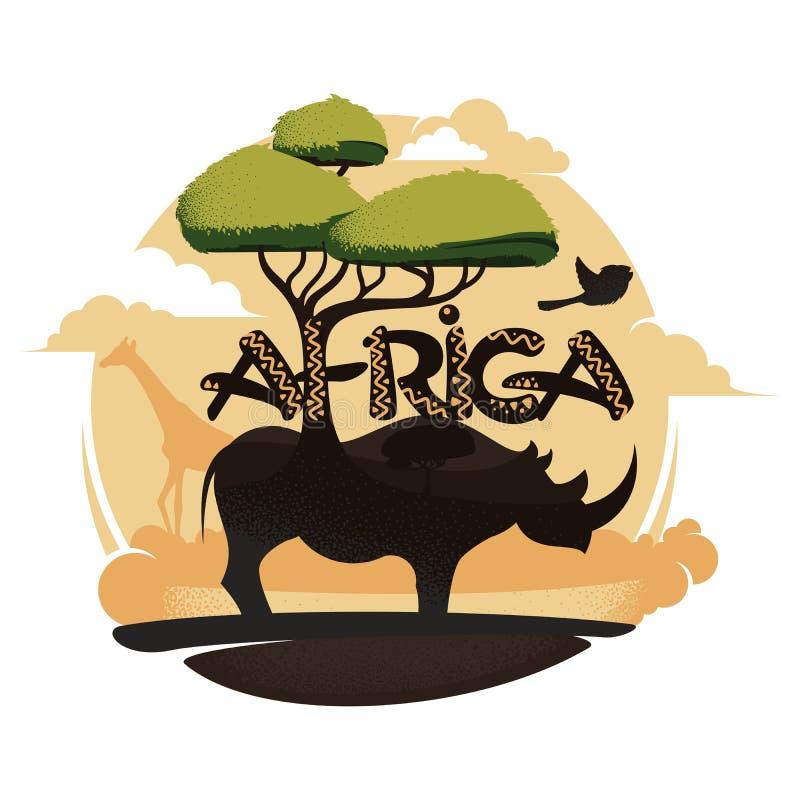 africa logo royaltyfri illustrationer