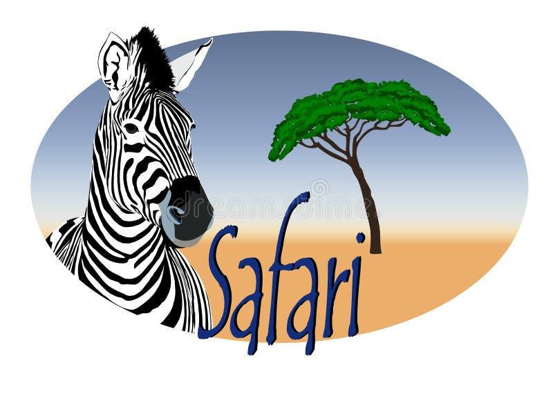 africa logosafari stock illustrationer
