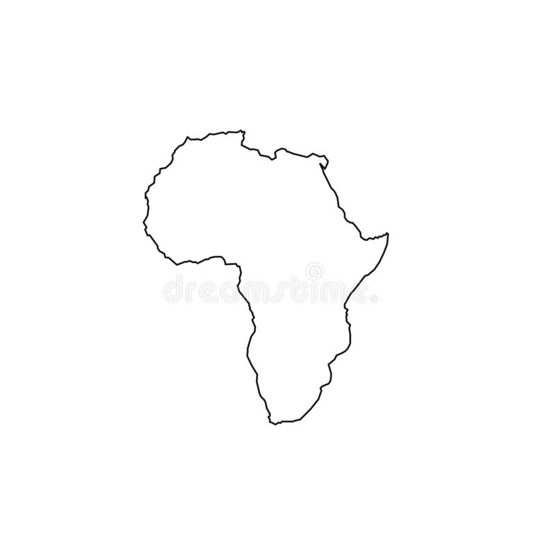 Africa map icon. Flat simple black design. vector EPS10 vector illustration