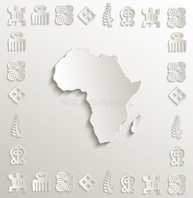 Africa Map Symbol Frame Paper 3D Stock Vector Illustration of