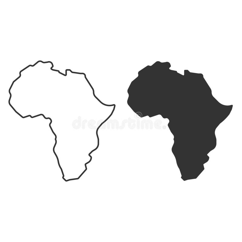 Africa Map Silhouette Vector.Vector Africa Map Stock Illustrations 42 678 Vector Africa