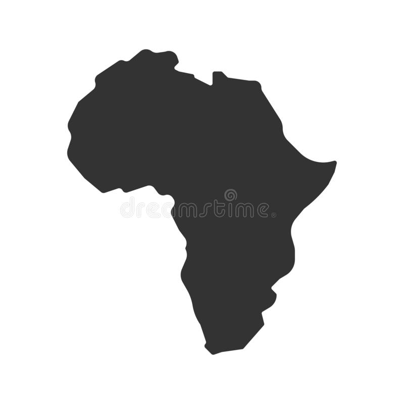 Africa map vector icon. simple Flat design. Africa map vector icon. Flat design eps10 vector illustration