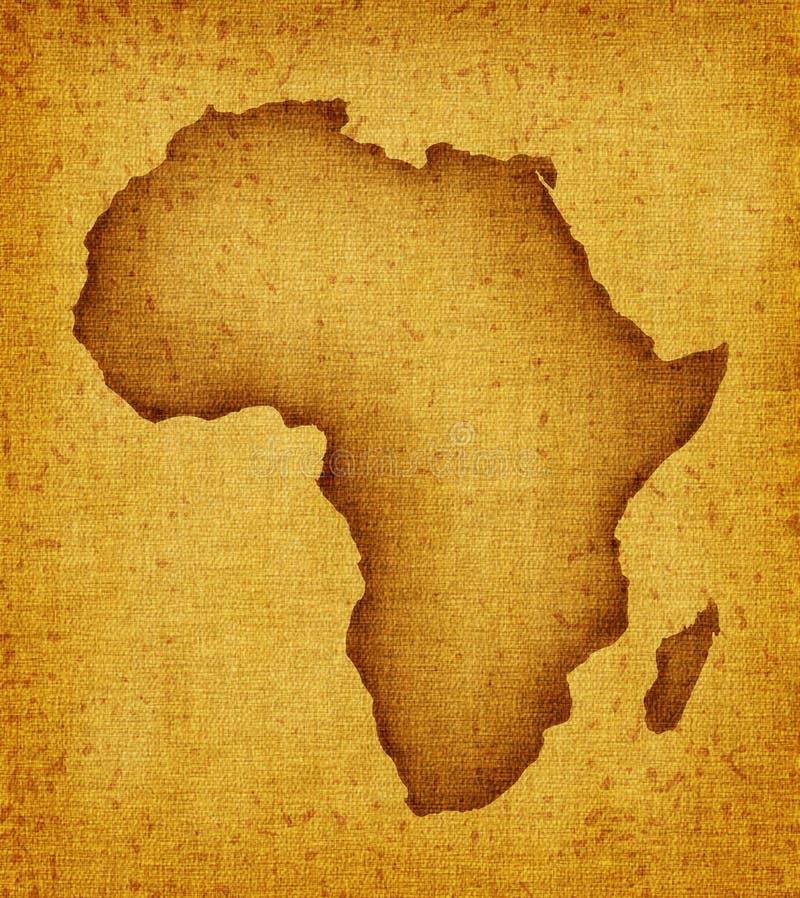 africa mapa royalty ilustracja