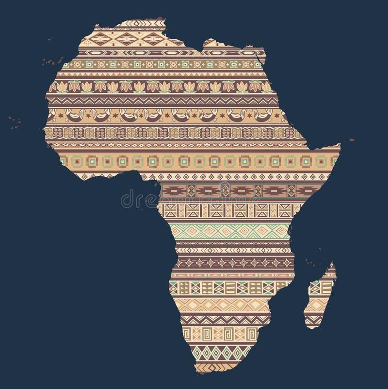 africa mapa ilustracja wektor