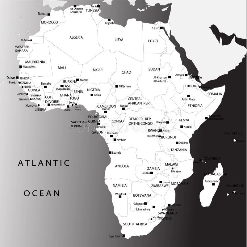 africa mapa polityczna royalty ilustracja