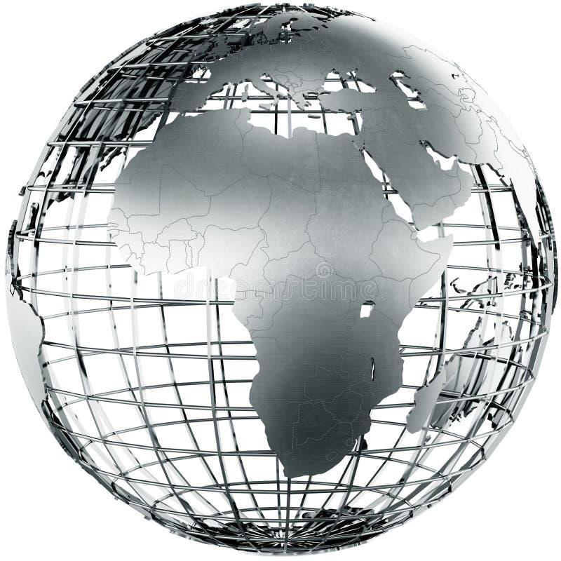 Africa in metal vector illustration