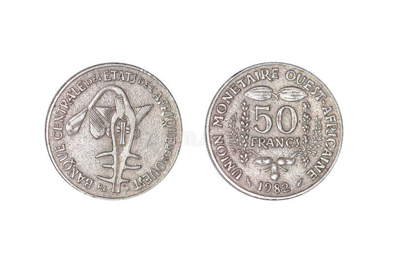 1982 Africa metalu pieniądze fotografia royalty free