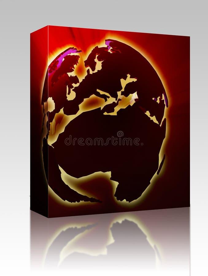 africa pudełkowaty Europe kuli ziemskiej pakunek ilustracji