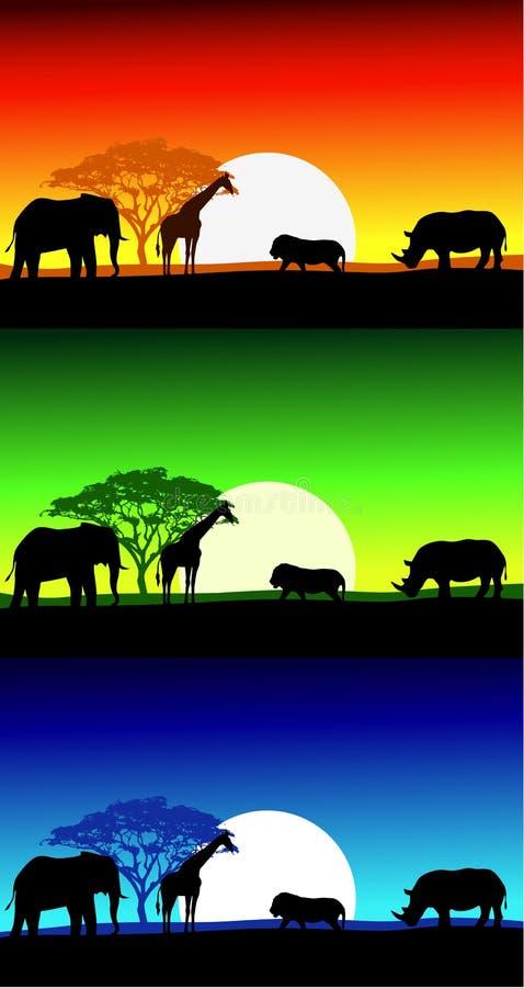 Download Africa Safari Landscape Background Stock Illustration - Illustration: 28499629