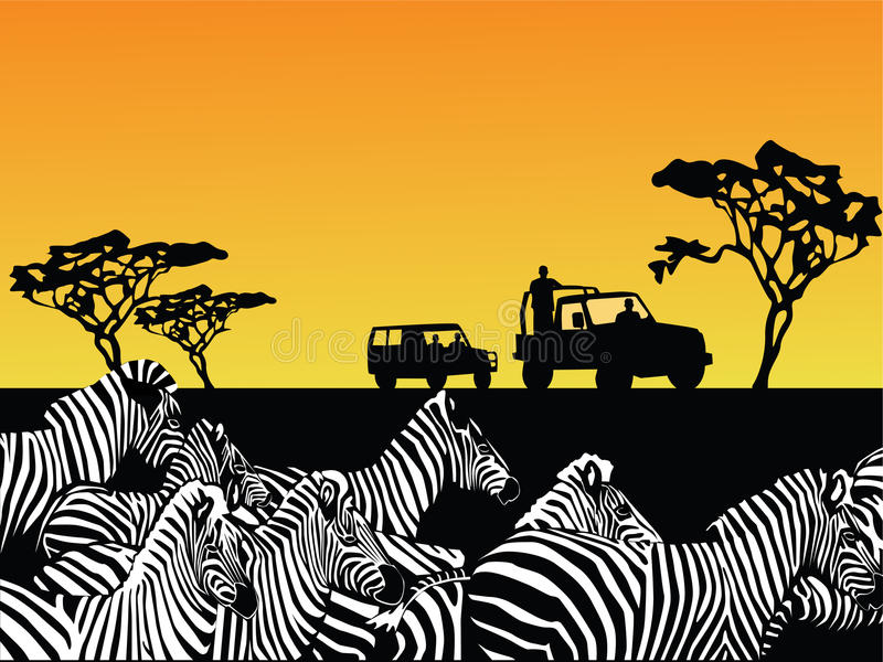 africa safari wektor ilustracji