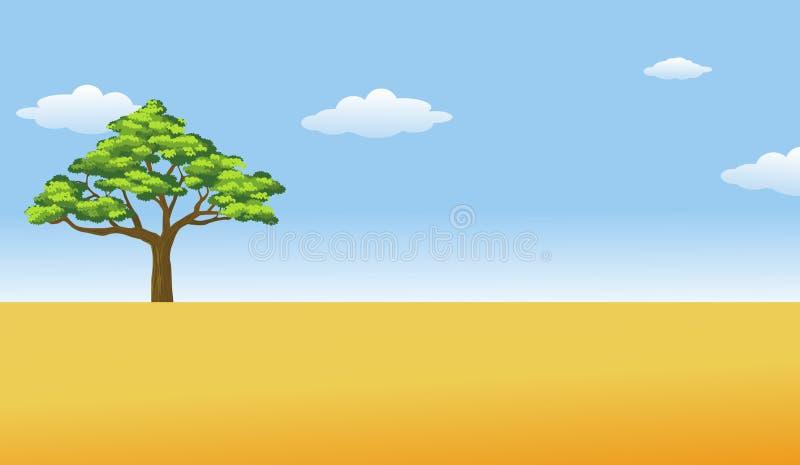 Download Africa Savanna stock vector. Image of rural, land, landscape - 16148432