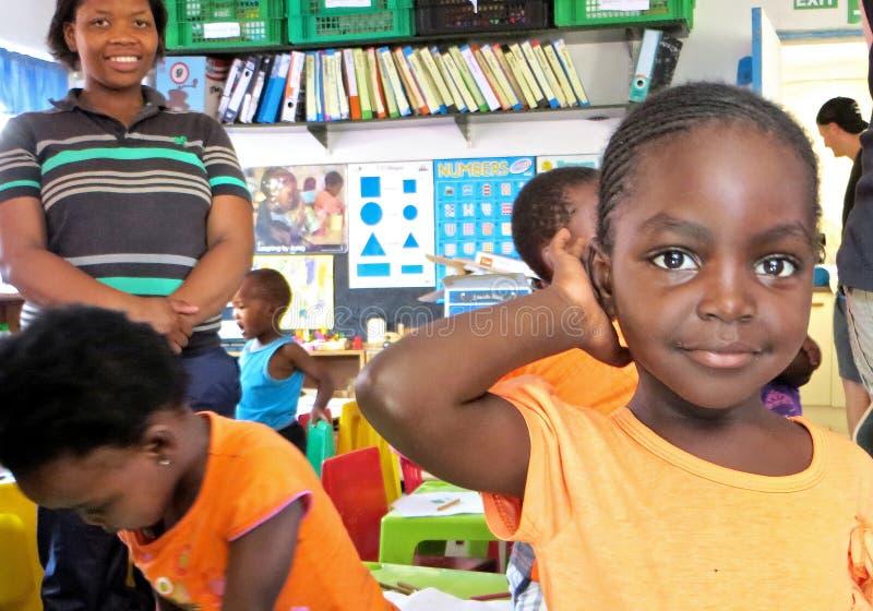 Africa School Girl stock photos