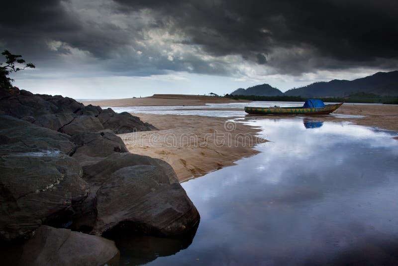 Africa, Sierra Leone, Freetown. Freetown, Sierra Leone - June 8, 2013: the beaches of the Tokeh royalty free stock photo