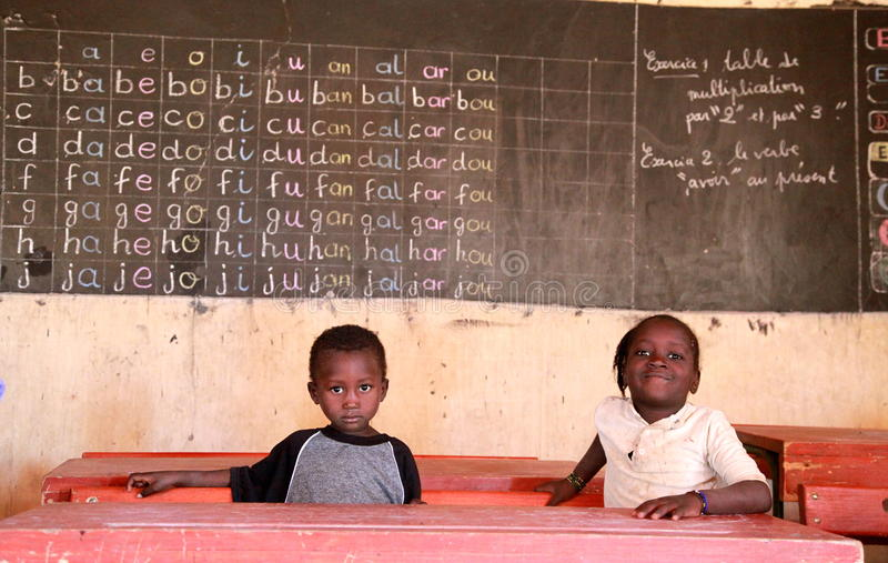 africa skola arkivfoto
