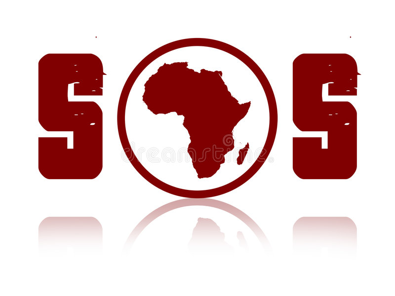 africa sos stock illustrationer