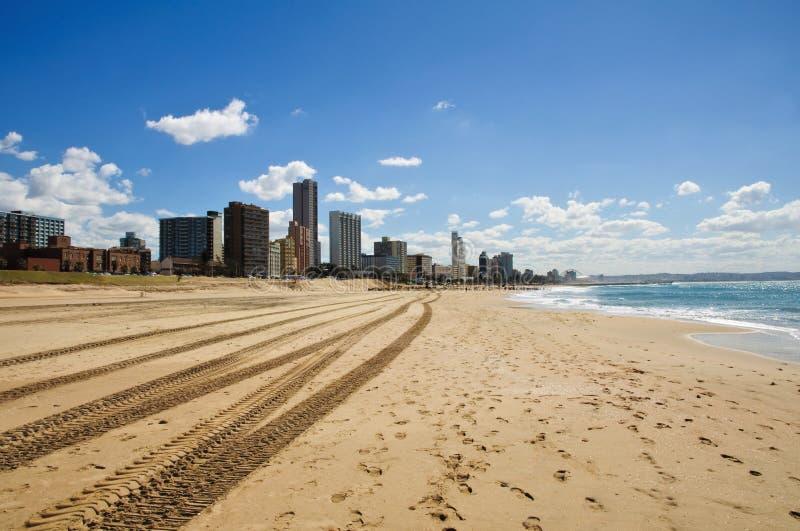 africa strandcityscape södra durban royaltyfri fotografi