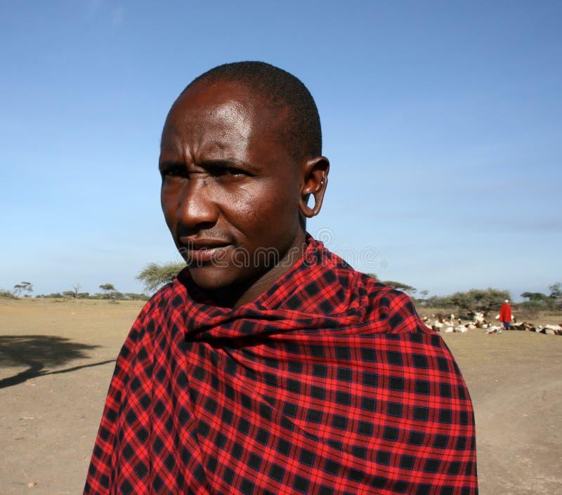 africa szefa mężczyzna masai Tanzania plemię fotografia stock