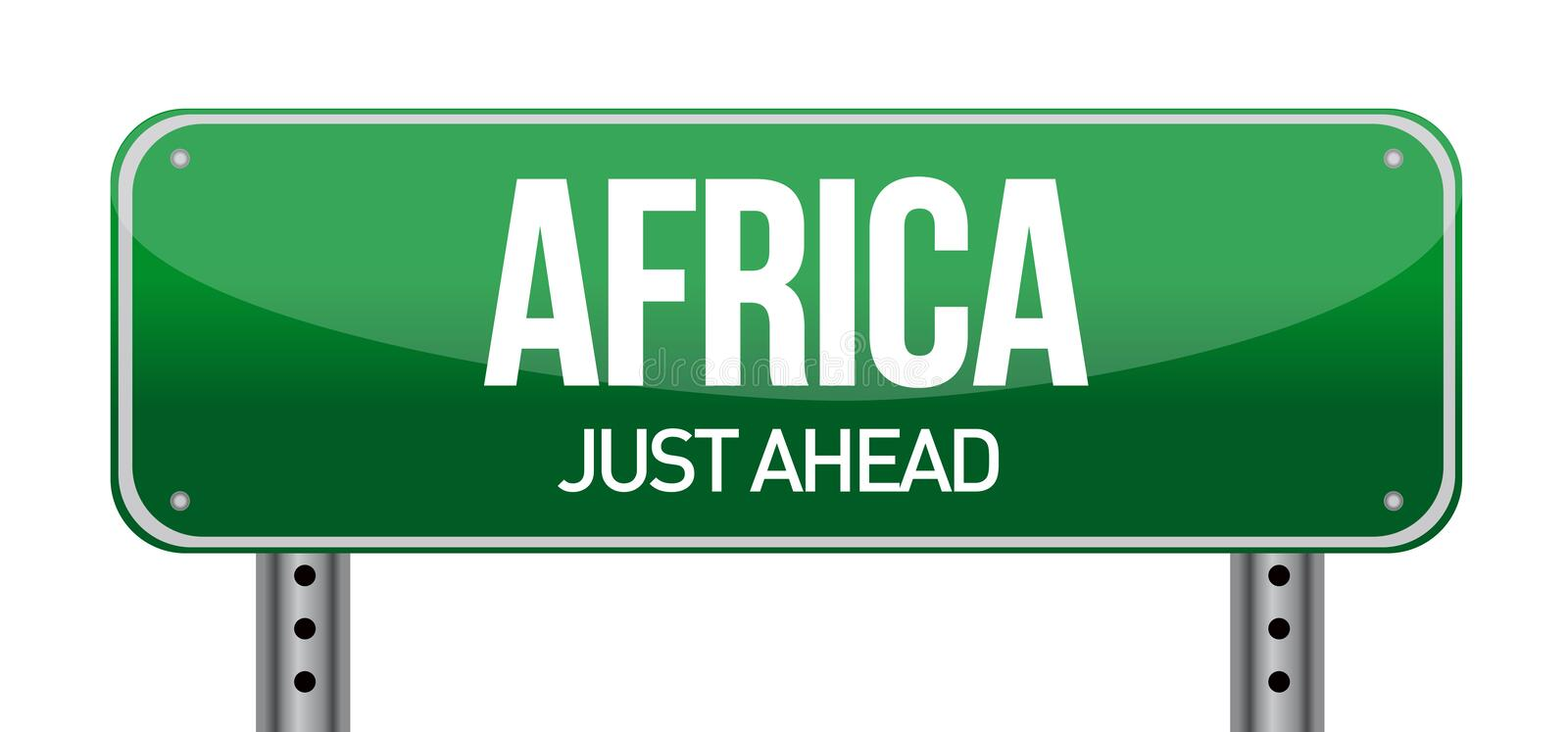 Africa Traffic Road Sign Stock Photos