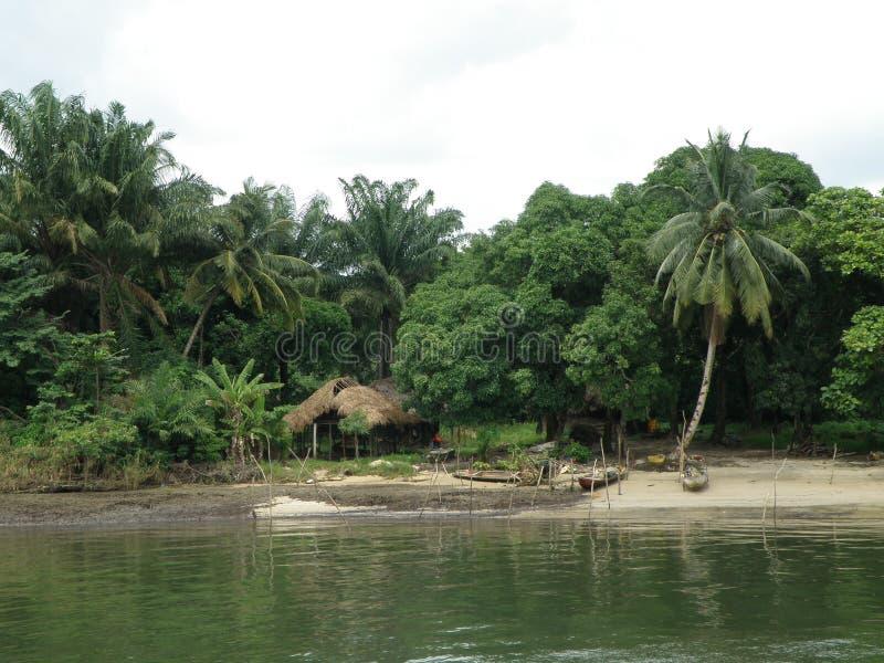 Africa-West coast. Gulf of Guinea. Bight of Benin. Nigeria, the Warri-River royalty free stock image