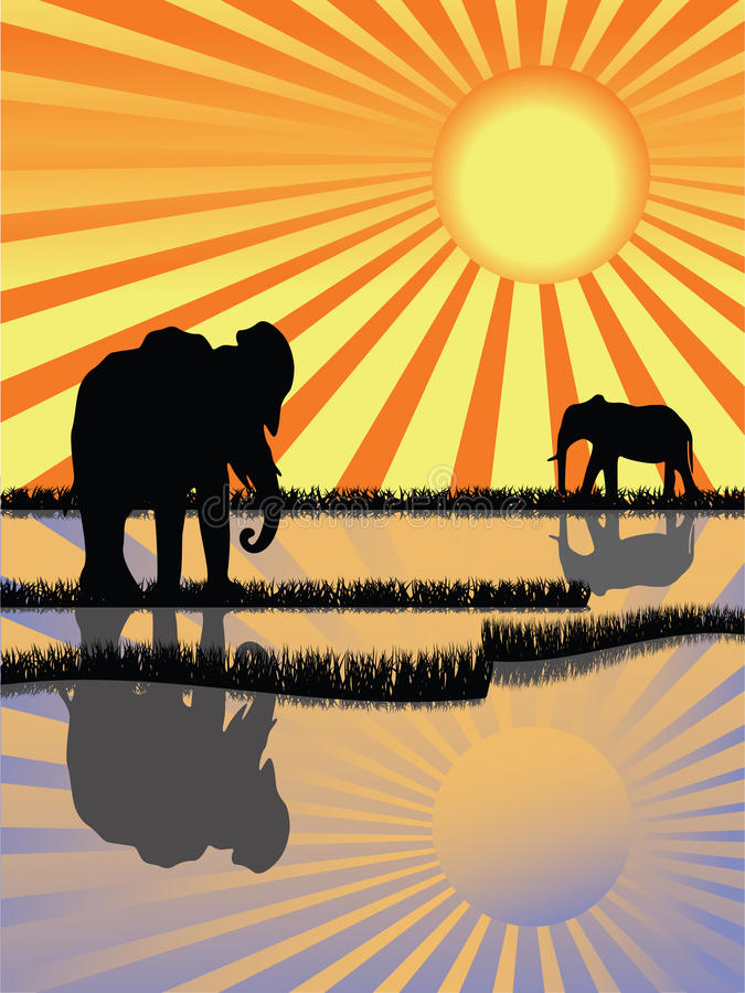 Download Africa wildlife stock vector. Image of journey, horizon - 13129050