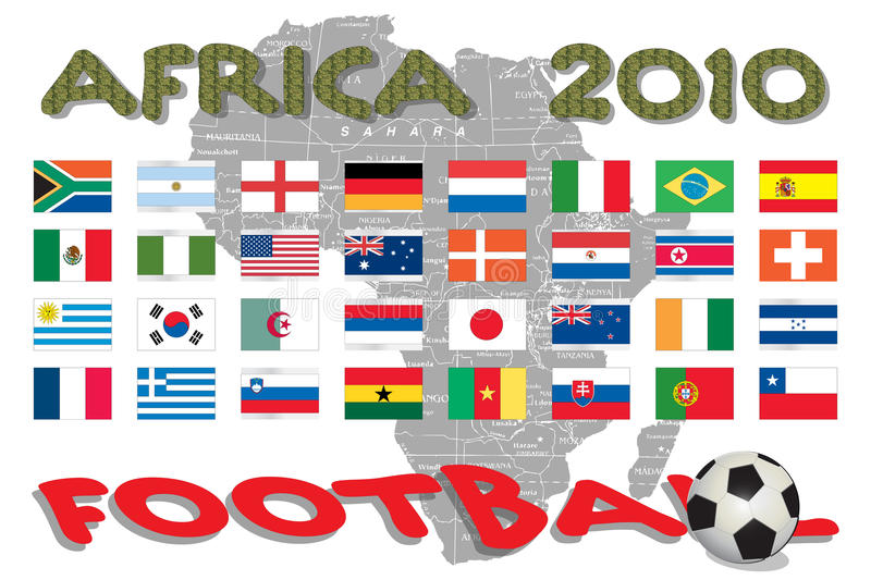Africa - World Cup vector illustration