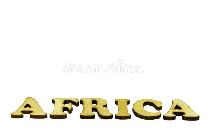 Africa written at an abstract angle. royalty free stock images