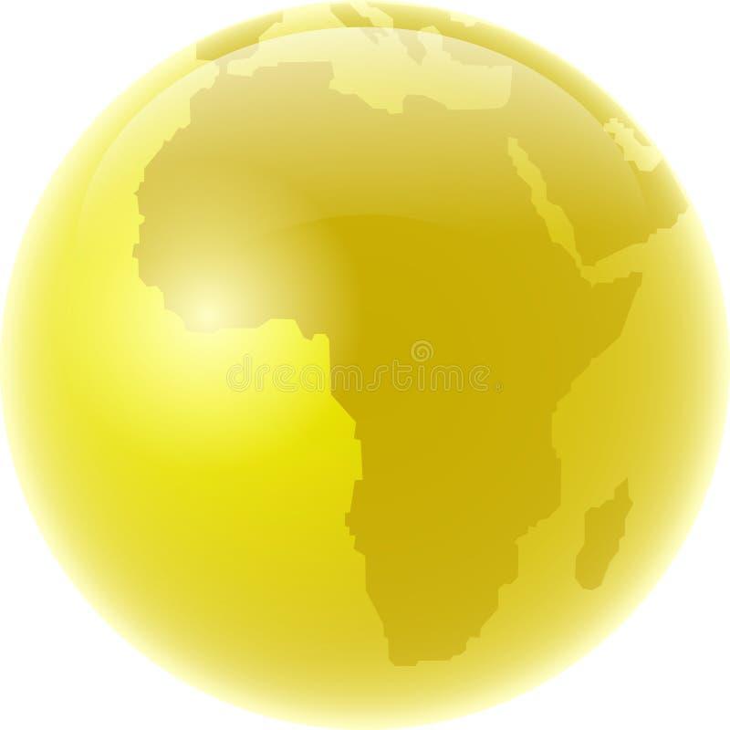 africa złoty royalty ilustracja