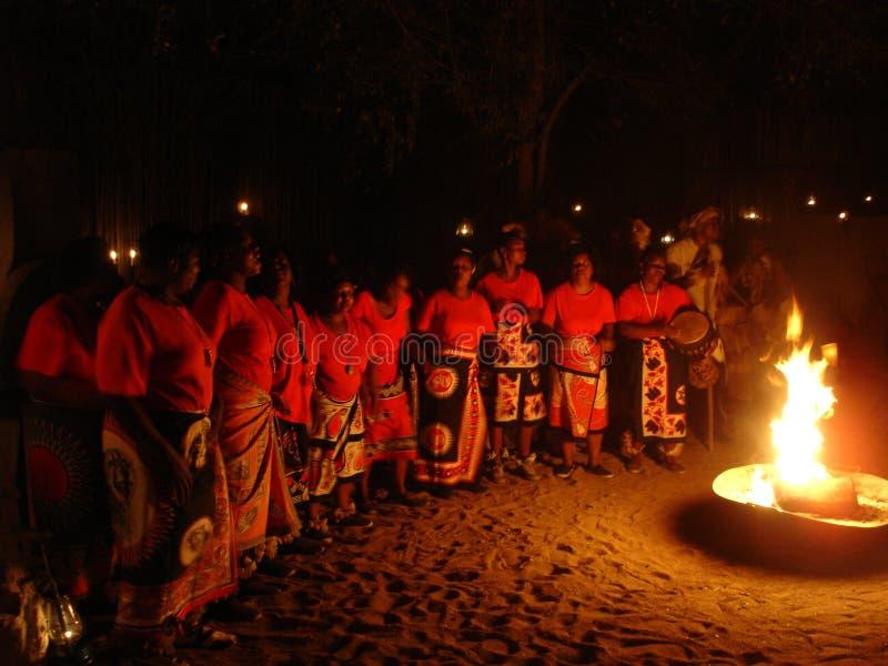 Africain - danseurs - le parc national de Kruger photographie stock