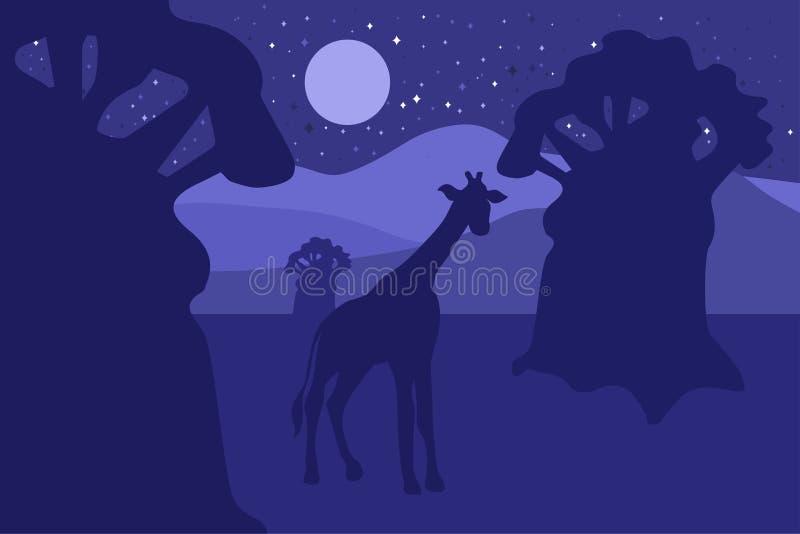 Africain Safari Park Landscape illustration stock