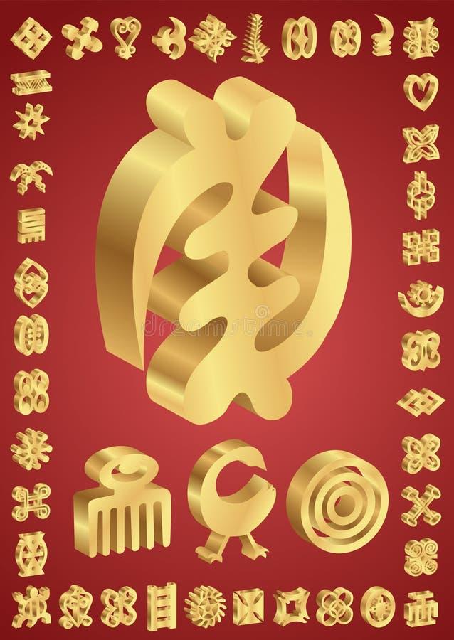 African Adinkra Symbols Stock Vector Illustration Of Religion