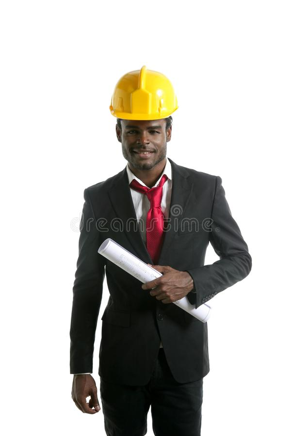 Download African American Architect Engineer Yellow Hardhat Stock Photo - Image: 10533064
