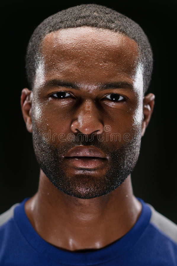 Download African American Athlete Portrait With Blank Expre Stock Image - Image: 30583367